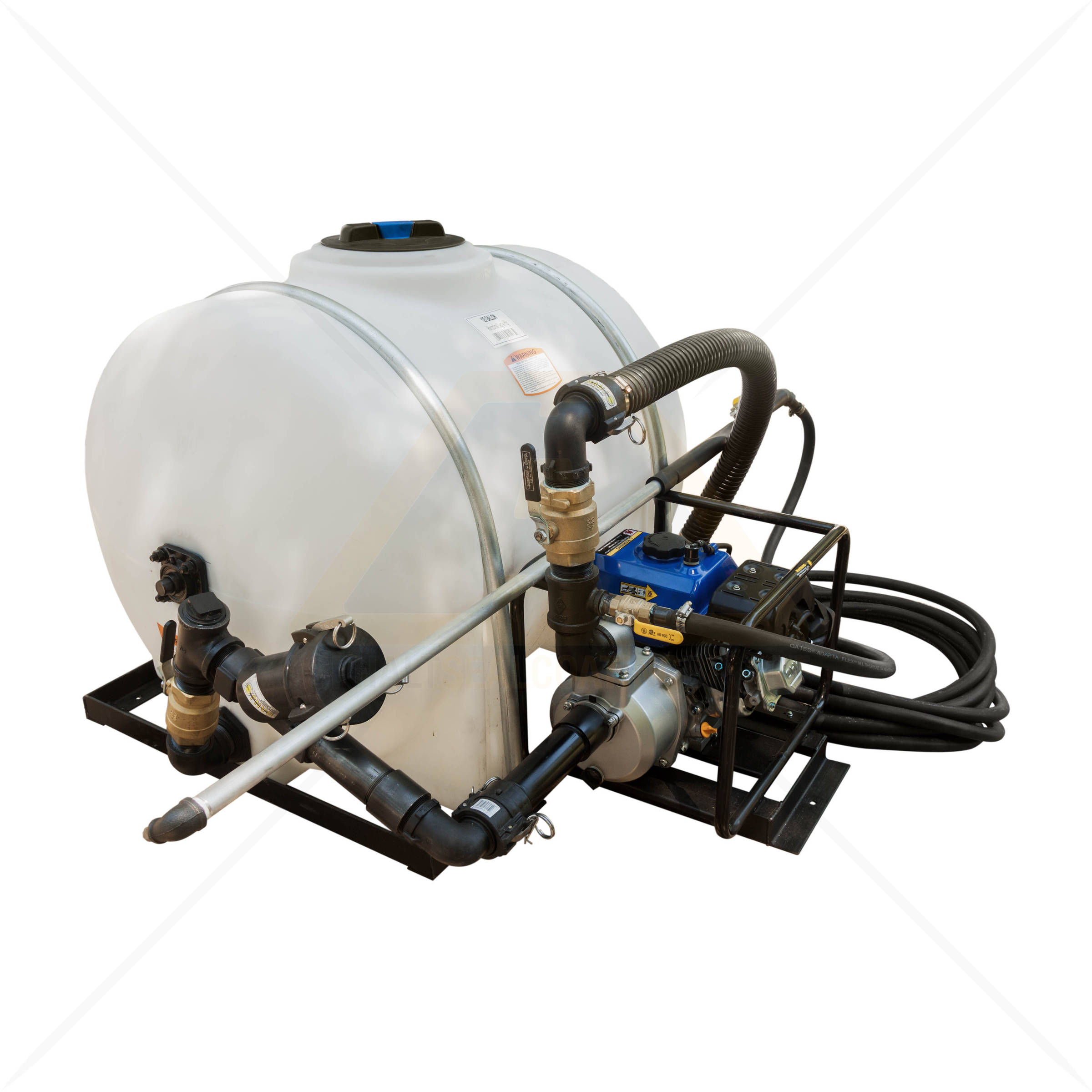 Driveway Sealcoat Machine With 125 Gallon Poly Tank Is