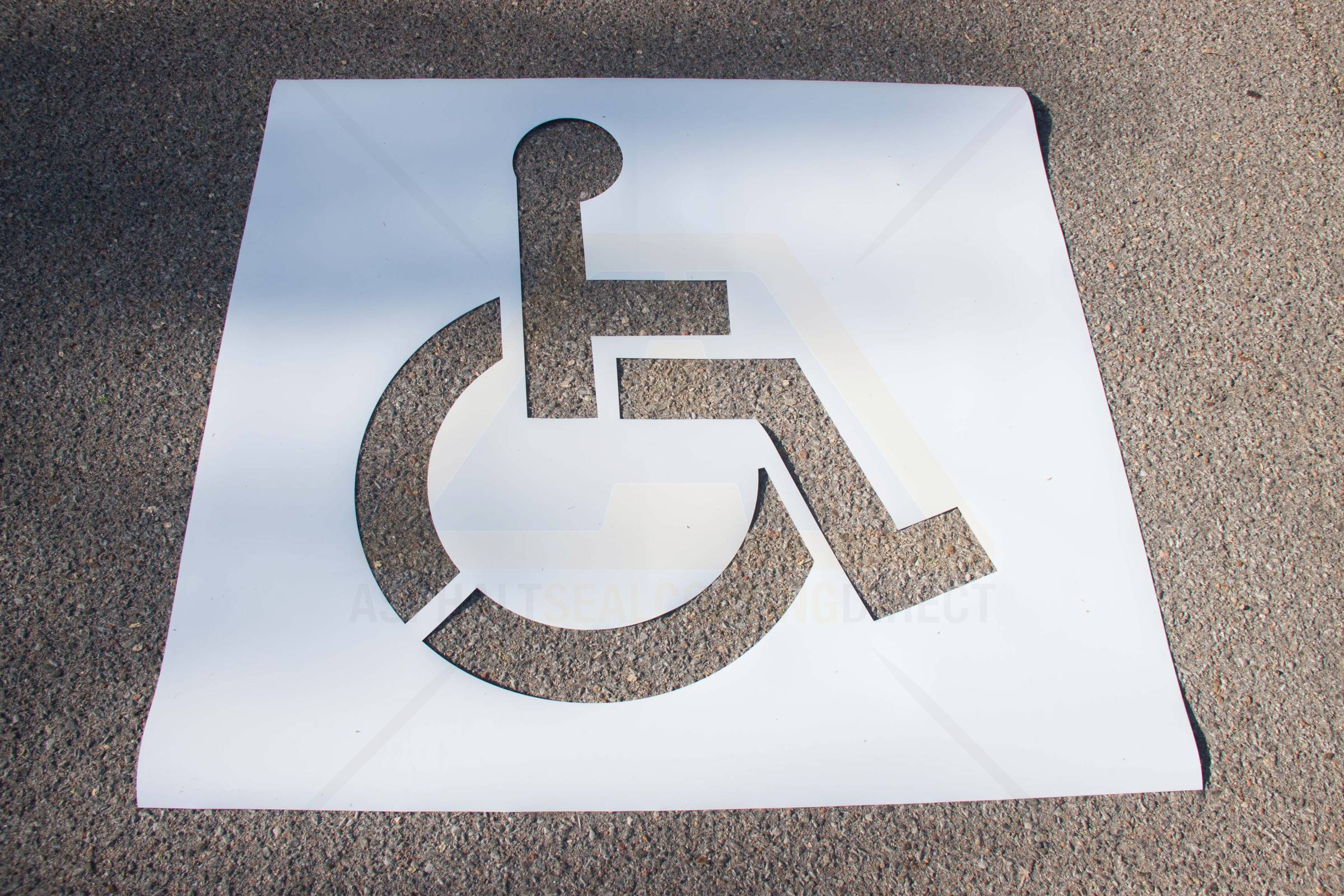 Big a disposable diy handicap stencil asphalt sealcoating direct image do it yourself handicap stencil solutioingenieria Gallery