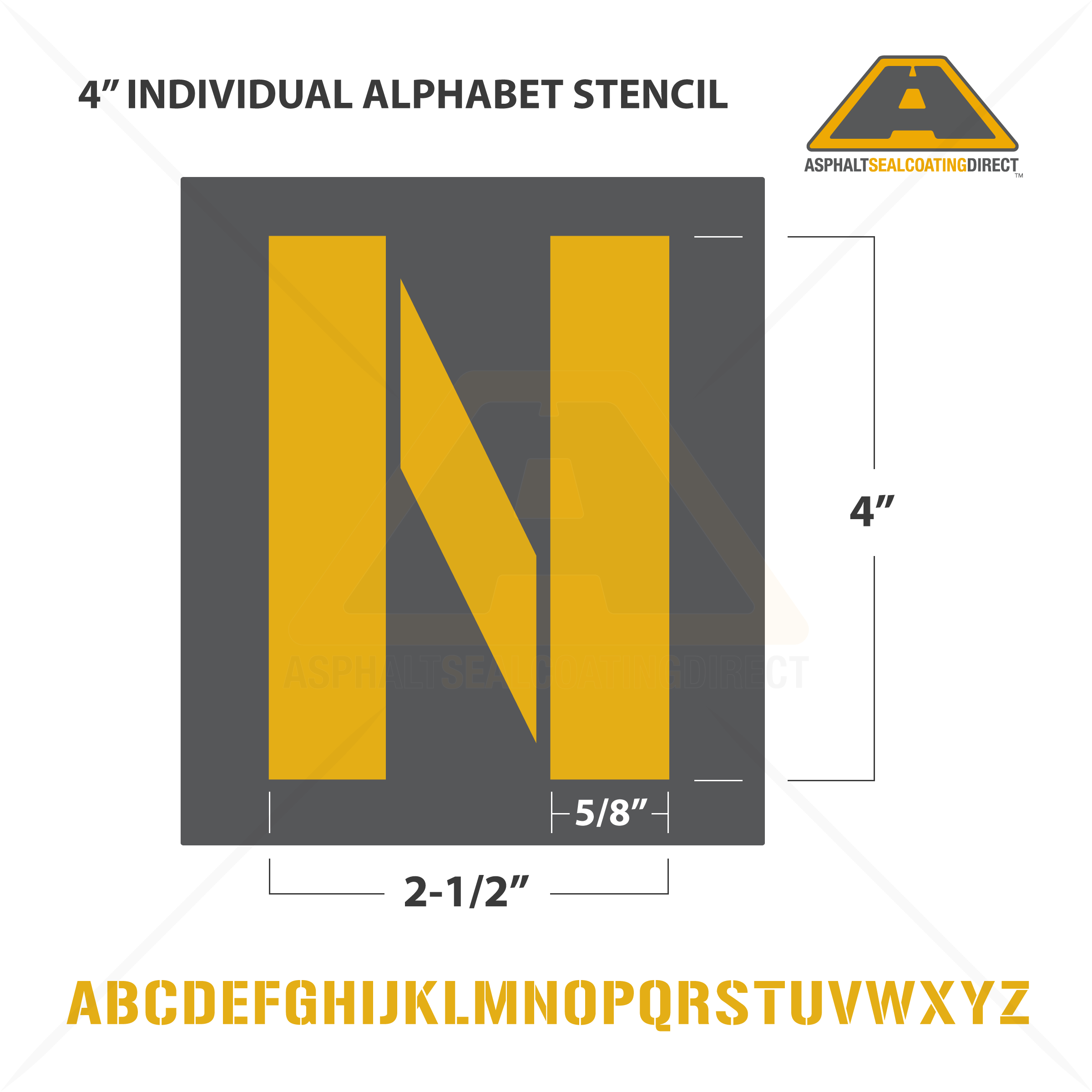 image of 4 individual alphabet letter stencil